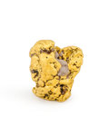 Minerals:Golds, Gold Nugget. Fort Jones, Oro Fino Mining District. Klamath Mts, Siskiyou Co.. California, USA. 0.56 x 0.50 x 0.39 inches (...