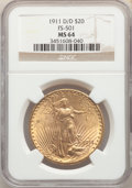 1911-D/D $20 FS-501 MS64 NGC. NGC Census: (132/152). PCGS Population: (140/209). CDN: $1,850 Whsle. Bid for problem-free...