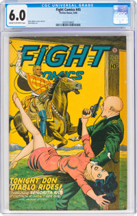 Fight Comics #45 (Fiction House, 1946) CGC FN 6.0 Cream to off-white pages