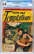 Golden Age (1938-1955):Romance, Teen-Age Temptations #4 (St. John, 1953) CGC GD 2.0 Cream to off-white pages....