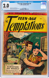 Teen-Age Temptations #4 (St. John, 1953) CGC GD 2.0 Cream to off-white pages