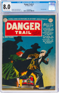 Danger Trail #1 (DC, 1950) CGC VF 8.0 Off-white to white pages