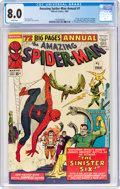Silver Age (1956-1969):Superhero, The Amazing Spider-Man Annual #1 (Marvel, 1964) CGC VF 8.0 White pages....