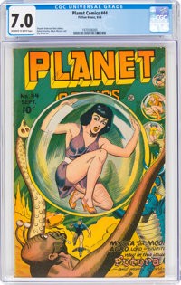 Planet Comics #44 (Fiction House, 1946) CGC FN/VF 7.0 Off-white to white pages