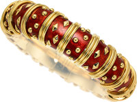 Enamel, Gold Bracelet, Schlumberger for Tiffany & Co., French