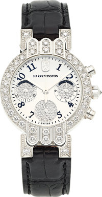 Harry Winston Lady's Diamond, White Gold, Premier Chronograph Watch