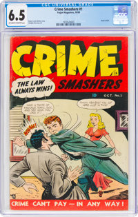 Crime Smashers #1 (Trojan Magazines, 1950) CGC FN+ 6.5 Off-white to white pages