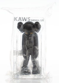 KAWS (b. 1974) Small Lie (Black), 2017 Painted cast vinyl 11 x 5 x 4-1/2 inches (27.9 x 12.7 x 11