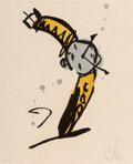 Prints & Multiples, Claes Oldenburg (b. 1929). Wrist Watch Rising, 1991. Woodcut in colors on Korean Kozo paper, state II. 20 x 16 inches (5...