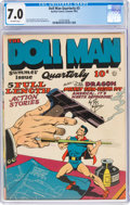 Golden Age (1938-1955):Superhero, Doll Man Quarterly #3 (Quality, 1942) CGC FN/VF 7.0 Off-white pages....