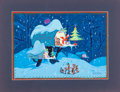 "Animation Art:Production Drawing, ""The Art of Art Riley"" Holiday ""Christmas R.F.D."" Painting..."