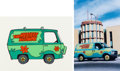 Animation Art:Color Model, Scooby-Doo, Where Are You Mystery Machine Early Color Model Cel (Hanna-Barbera, 1969).... (Total: 2 Items)