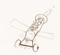 Animation Art:Production Drawing, Plane Crazy Mickey Mouse Animation Drawing by Ub Iwerks (Walt Disney, 1928)....