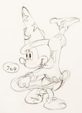 "Animation Art:Production Drawing, Fantasia ""The Sorcerer's Apprentice""..."