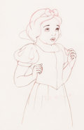 Animation Art:Production Drawing, Snow White and the Seven Dwarfs Snow White Animation Drawing (Walt Disney, 1937)....