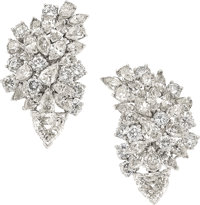 Diamond, Platinum Earrings