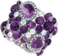 Estate Jewelry:Bracelets, Amethyst, Moonstone, Diamond, White Gold Bracelet . ...