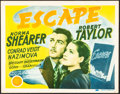 "Movie Posters:Drama, Escape (MGM, 1940). Fine+. Title Lobby Card (11"" X 14""). Drama.. ..."