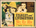 "Movie Posters:Adventure, Stanley and Livingstone (20th Century Fox, 1939). Very Good+. Title Lobby Card (11"" X 14""). Adventure.. ..."