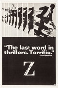 """Movie Posters:Foreign, Z (Cinema 5, 1969). Folded, Very Fine-. One Sheet (27"""" X 41""""). Foreign.. ..."""