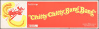 "Chitty Chitty Bang Bang (United Artists, 1969). Rolled, Fine/Very Fine. Silk Screen Day-Glo Banner (82"" X 24"")..."