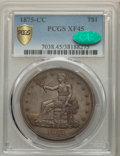 1875-CC T$1 XF45 PCGS. CAC. PCGS Population: (75/413 and 0/2+). NGC Census: (24/269 and 0/2+). CDN: $600 Whsle. Bid for...