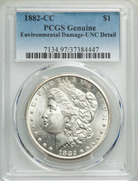 1882-CC $1 -- Environmental Damage -- PCGS Genuine. Unc Details. NGC Census: (32/18112). PCGS Population: (65/34544). CD...