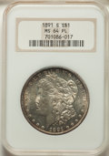 Morgan Dollars: , 1891-S $1 MS64 Prooflike NGC. NGC Census: (114/18). PCGS Population: (115/47). CDN: $385 Whsle. Bid for problem-free NGC/PC...