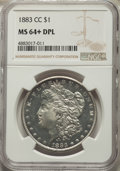 1883-CC $1 MS64+ Deep Mirror Prooflike NGC. NGC Census: (578/239 and 9/2+). PCGS Population: (1466/990 and 57/60+). CDN:...