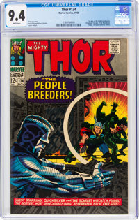 Thor #134 (Marvel, 1966) CGC NM 9.4 White pages