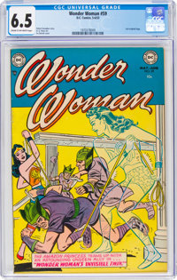 Wonder Woman #59 (DC, 1953) CGC FN+ 6.5 Cream to off-white pages