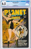 Golden Age (1938-1955):Science Fiction, Planet Comics #39 (Fiction House, 1945) CGC FN+ 6.5 Cream to off-white pages....