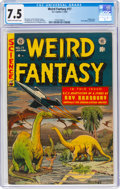 Golden Age (1938-1955):Science Fiction, Weird Fantasy #17 (EC, 1953) CGC VF- 7.5 Cream to off-white pages....