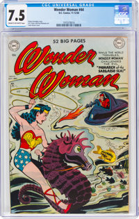 Wonder Woman #44 (DC, 1950) CGC VF- 7.5 Cream to off-white pages
