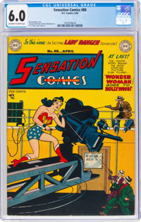 Sensation Comics #88 (DC, 1949) CGC FN 6.0 Off-white to white pages