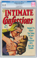 Golden Age (1938-1955):Romance, Intimate Confessions #2 (Realistic Comics, 1951) CGC VF 8.0 Off-white to white pages....