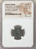 Ancients:Roman Imperial, Trajan Decius (AD 249-251). AE reduced as or semis (19mm, ...