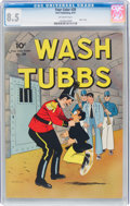 Golden Age (1938-1955):Adventure, Four Color #28 Wash Tubbs (Dell, 1943) CGC VF+ 8.5 Off-white pages....
