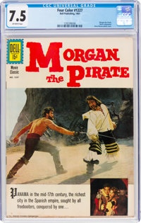 Four Color #1227 Morgan the Pirate (Dell, 1961) CGC VF- 7.5 Off-white pages