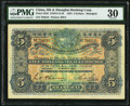 China Hongkong and Shanghai Banking Corporation 5 Dollars 1.3.1923 Pick S353 S/M#Y13-40 PMG Very Fine 30