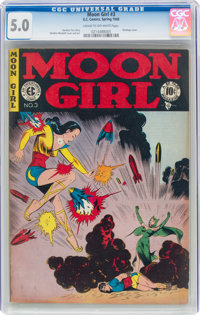 Moon Girl #3 (EC, 1948) CGC VG/FN 5.0 Cream to off-white pages