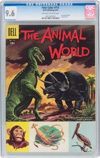 Four Color #713 The Animal World (Dell, 1956) CGC NM+ 9.6 Off-white to white pages