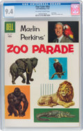 Golden Age (1938-1955):Miscellaneous, Four Color #662 Marlin Perkins' Zoo Parade (Dell, 1955) CGC NM 9.4 Off-white to white pages....