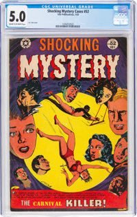 Shocking Mystery Cases #52 (Star Publications, 1953) CGC VG/FN 5.0 Cream to off-white pages