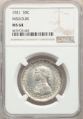 1921 50C Missouri MS64 NGC. NGC Census: (986/337). PCGS Population: (860/352). CDN: $550 Whsle. Bid for problem-free NGC...