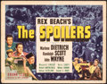 "Movie Posters:Western, The Spoilers (Universal, 1942). Fine+. Title Lobby Card (11"" X 14""). Western.. ..."