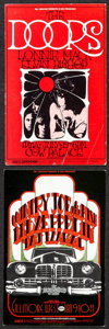 """Movie Posters:Rock and Roll, The Doors at the Cow Palace & Other Lot (Bill Graham, 1969). Very Fine-. Concert Promotional Postcards (2) (4.75"""" X 7"""") Rand... (Total: 2 Items)"""