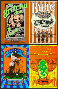 The Grateful Dead at the Fillmore West & Other Lot (Bill Graham, 1969). Very Fine-. Oversized Concert Promotiona...
