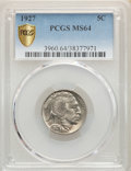 1927 5C MS64 PCGS. PCGS Population: (784/1166). NGC Census: (419/442). CDN: $85 Whsle. Bid for problem-free NGC/PCGS MS6...
