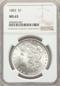 1883 $1 MS65 NGC. NGC Census: (4054/957). PCGS Population: (4653/1242). CDN: $130 Whsle. Bid for problem-free NGC/PCGS M...